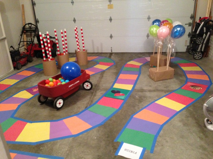 Giant Candyland board. Fun activity for the kids!