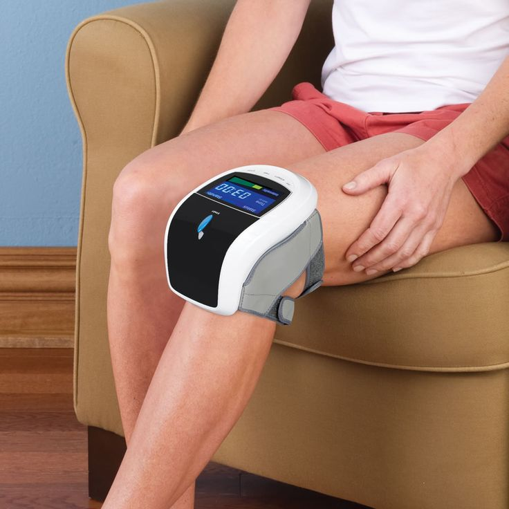 The Triple Therapy Knee Pain Reliever - Hammacher Schlemmer