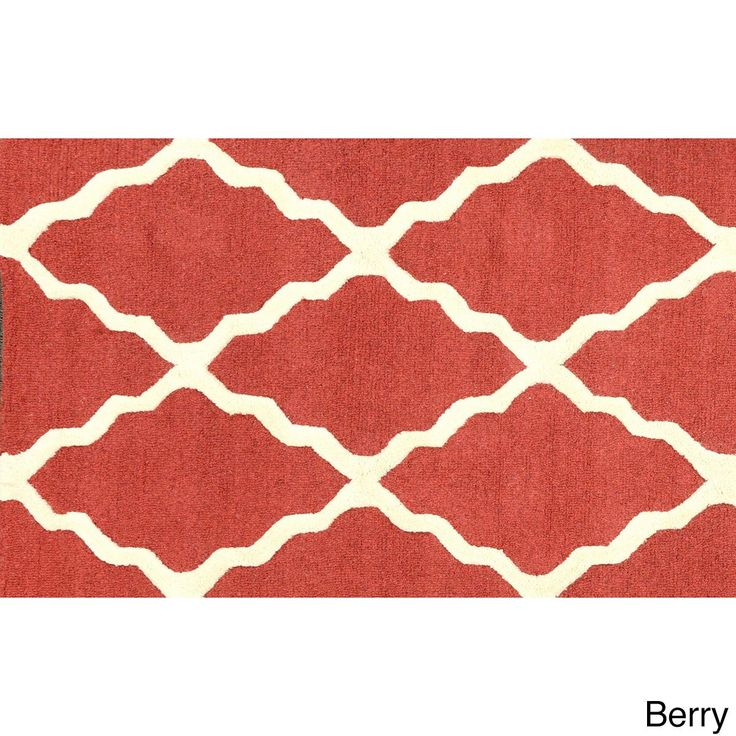 nuLOOM Hand-hooked Alexa Moroccan Trellis Wool Door Mat Rug