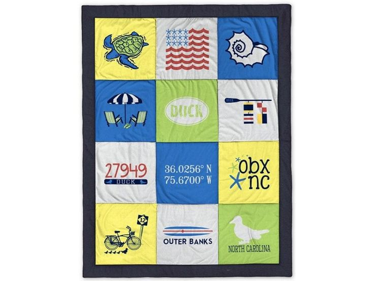 Duck Outer Banks Destination Blanket by BeachsideClothingCo on Etsy