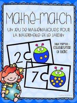 Voici un jeu amusant pour vos centres de mathématiques - deux formats (couleurs et noir/blanc). Ce produit permettra à vos élèves de travailler la reconnaissance des nombres et la correspondance un à un. Pour mettre votre centre en place, vous n'avez qu'à imprimer, laminer