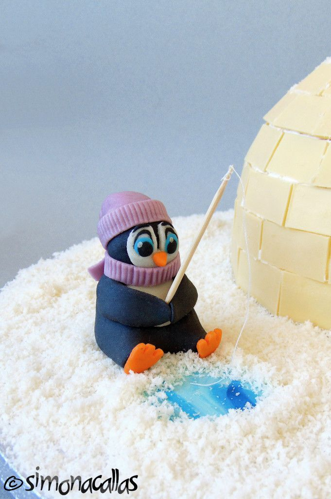 Igloo&Penguins Cake by simonacallas (detail)