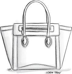 fashion designers drawings of handbags - Google Search