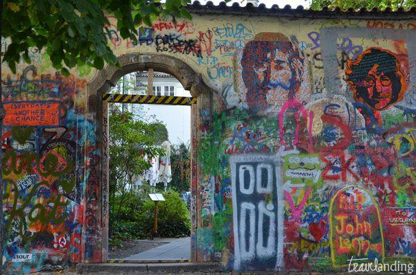 muro de john lennon. Praga en dos días