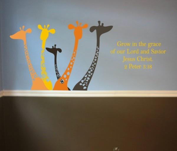 Giraffes Decorations For Child Room Vinyl Decals
