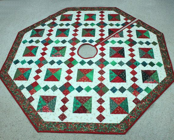 RESERVED FOR MHSTORONTO! Quilted Christmas Tree Skirt