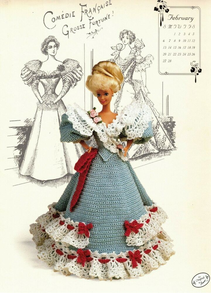 March 1994 ~ fits Barbie dolls Annie/'s Gibson Girl crochet pattern booklet NEW