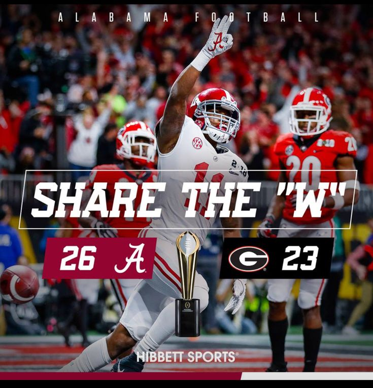 2018 National Champions - The Alabama Crimson Tide collected their fifth national title in nine years after defeating the Georgia Bulldogs 26-23 in the College Football Playoff National Championship at Mercedes-Benz Stadium in Atlanta #Alabama #RollTide #Bama #BuiltByBama #RTR #CrimsonTide #RammerJammer #CFBPlayoff #NationalChampionship #CFBNationalChampionship2018