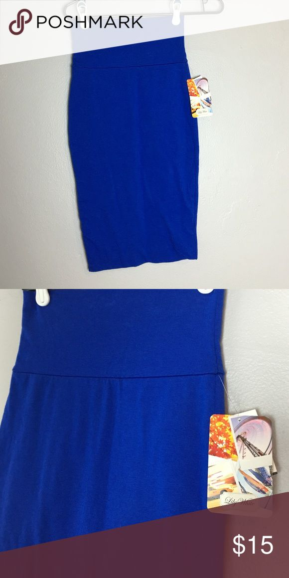 Royal blue stretch pencil skirt New with tags. Soft stretching pencil skirt Lily White Skirts Pencil