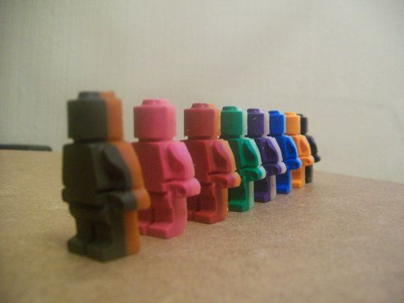 8 Pack of Lego Man Wax Crayons Christmas Stocking Filler Gift Childrens Drawing Art £2.00