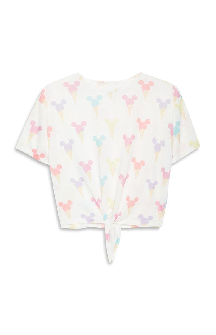 Primark - T-shirt Mickey Mouse met ijsjesprint