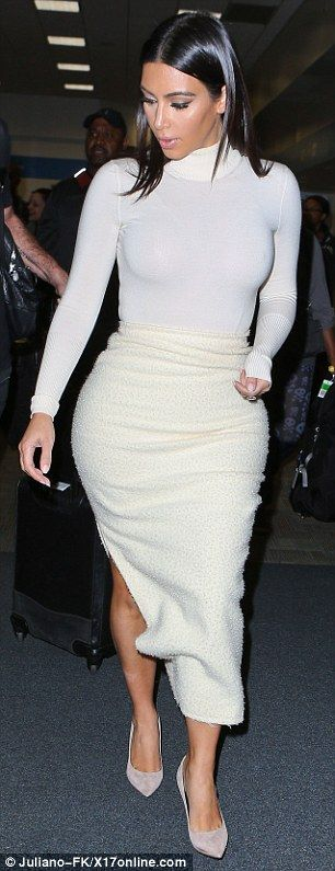 Sizzling in Silicon Valley: Kim Kardashian touched down in San Francisco to attend a tech conference for her Hollywood game but it was her all-white outfit that wowed http://dailym.ai/1nQK0zu