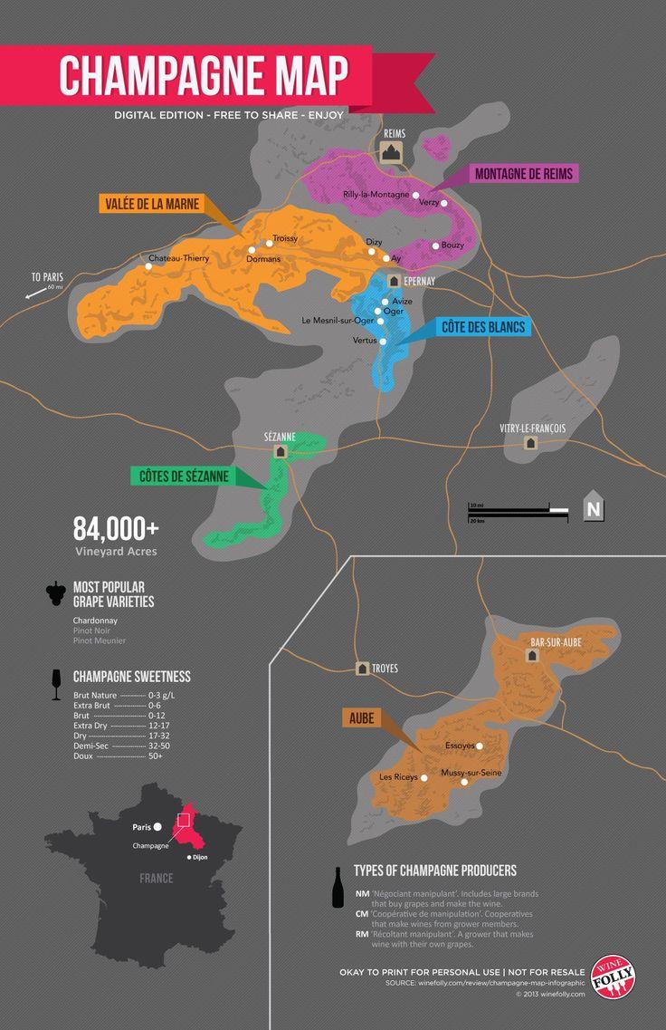 Sparkling Wine vs Champagne – Champagne Map, France