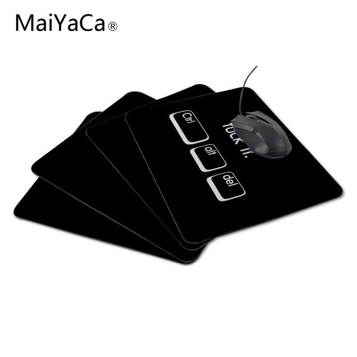 MaiYaCa Funny Black Humor Ctrl Alt Del Non-Slip Laptop Computer PC Mouse Pad Me Pad Mat for Optal Mouse #Affiliate