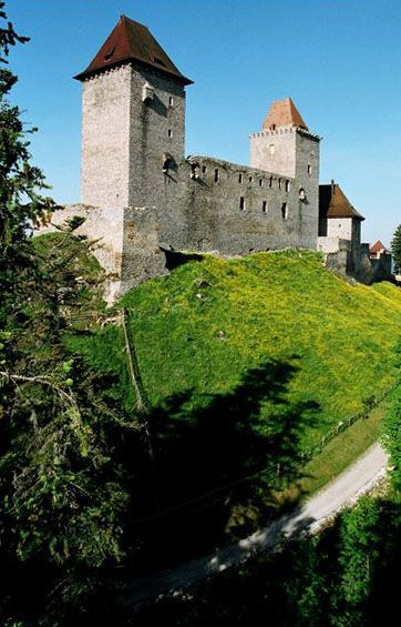 Kašperk gothic guardian castle in Šumava mountains (South-West Bohemia), Czechia