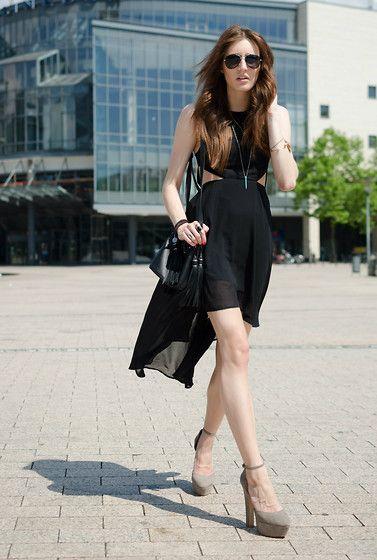 Lisa Fiege - H&M Dress, H&M Bag, Zara Shoes - Through glass