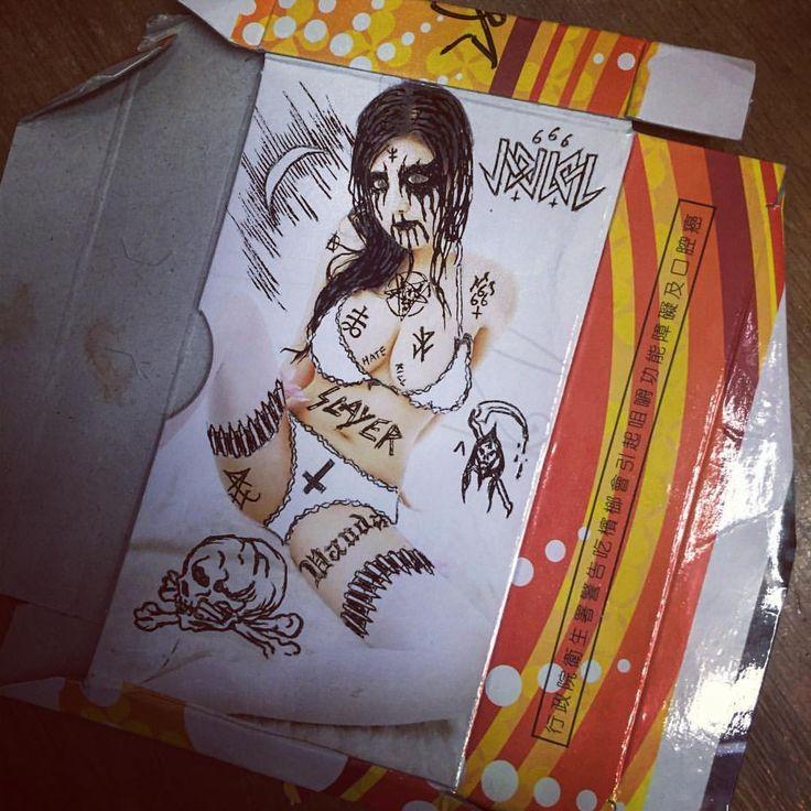行政院衛生署警告吃檳榔會引起地球毀滅 #vandal #satanic #satanism #blackmetal #666 #lucifer #symbol #slayer #hate #kill #檳榔盒