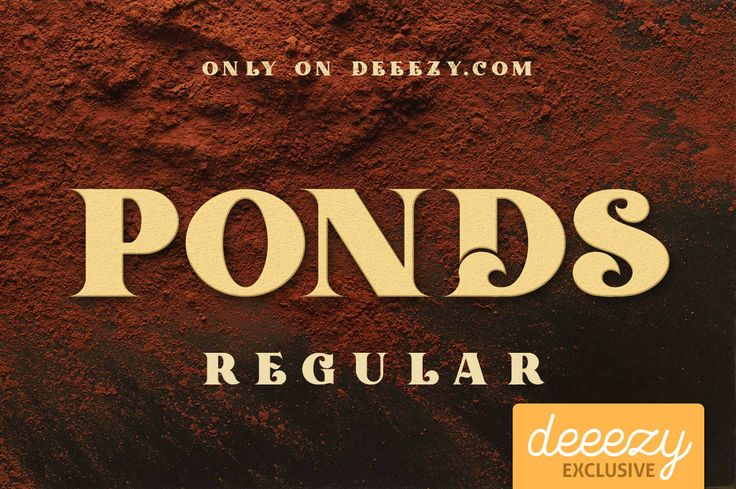 Ponds Regular Font | Deeezy - Freebies with Extended License