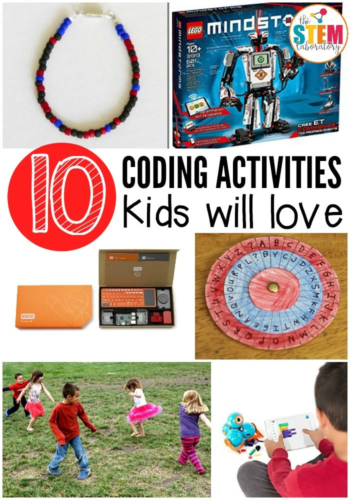 10 coding activities kids will love. Fun games, apps, code breaking, and even a craft! Great for the classroom or at home.