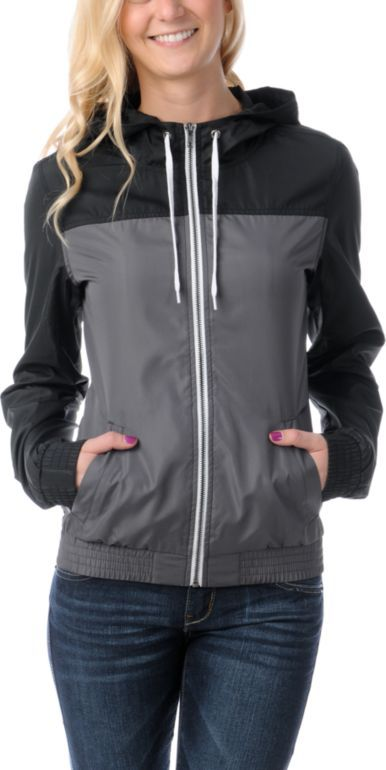 21 best zumiez pin images on pinterest accessories my style and zine girls grey and charcoal color block windbreaker zumiez available in multiple ccuart Images
