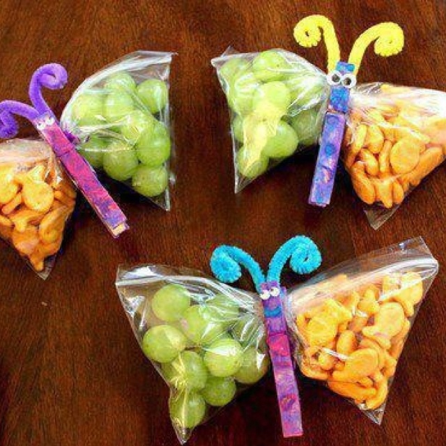 Lunches: Fun Snacks, Birthday Treats, For Kids, Snacks Bags, Cute Snacks, Cute Ideas, Kids Snacks, Snacks Ideas, Butterflies Snacks