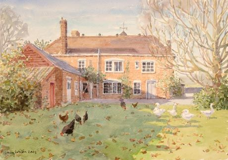 ۩۩ Painting the Town ۩۩  city, town, village  house art - Lucy Willis