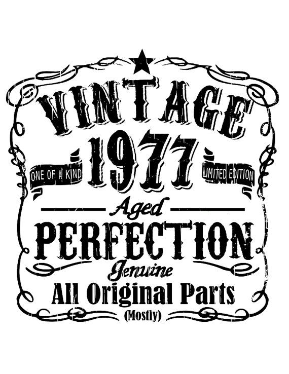 Vintage birthday 1937 1947 1957 1967 1977 all included