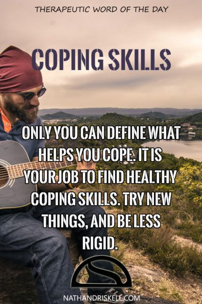 Sometimes it takes a lot of creativity to find new coping skills. We often get stuck in patterns of thought and behavior. We avoid new activities and ideas that are strange. We limit ourselves, and in the end, live a very rigid life. Sometimes, we need to take a chance and try something new, something different. #copingskills #health #life nathandriskell.com