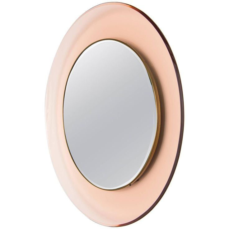 Circular Wall Mirror by Max Ingrand for Fontana Arte | From a unique collection of antique and modern wall mirrors at https://www.1stdibs.com/furniture/mirrors/wall-mirrors/