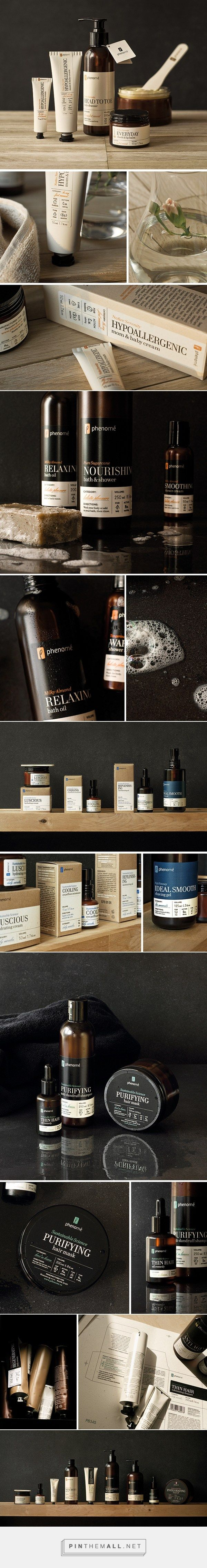 Phenome Organic Skincare Product Packaging by Ah&Oh Studio