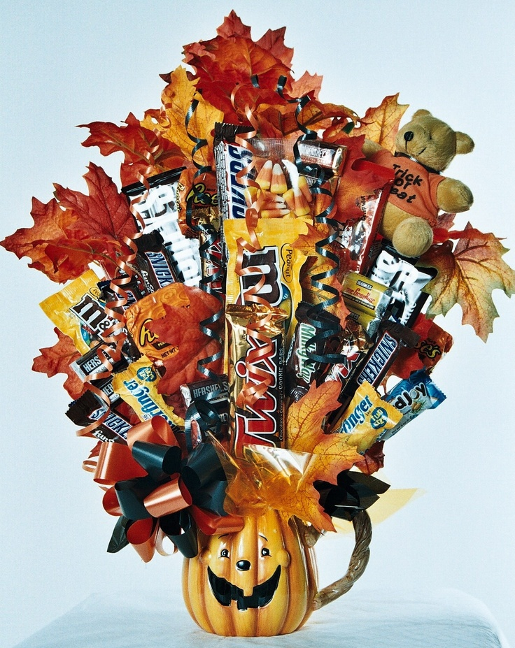 Image detail for -Halloween Candy Bouquet Jack-O-Lantern Mug