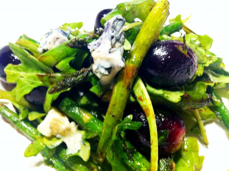 Arugula salad, Blue cheese and Asparagus on Pinterest