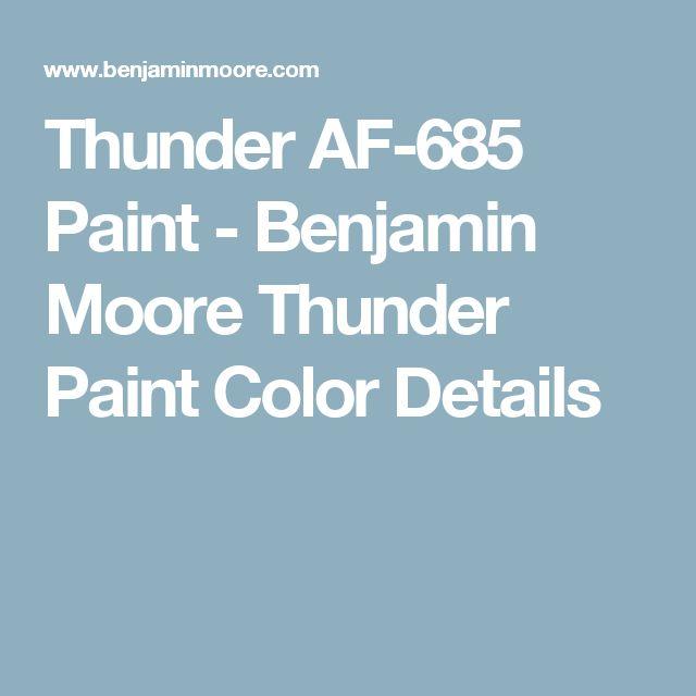 Thunder AF-685 Paint - Benjamin Moore Thunder Paint Color Details
