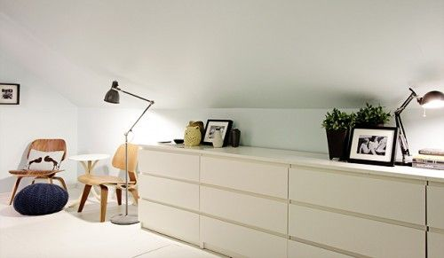 Idea - Ikea dressers all in a row for a clean look...
