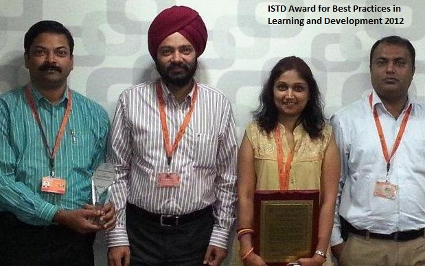 Harjeet and team on winning the ISTD award for Best Practices in Learning and Development