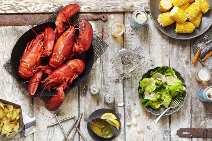 new work. lobster feast. food stylist: chelsea...