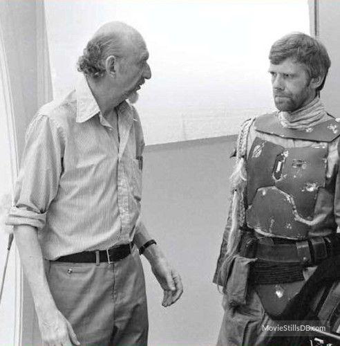 Star Wars: Episode V - The Empire Strikes Back behind the scenes photo of Jeremy Bulloch & Irvin Kershner