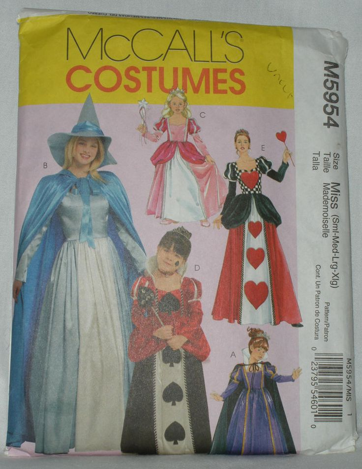 McCalls Costume Pattern M5954 Miss Girls Storybook Outfits Queen Heart Fairy etc #McCalls #sewing #pattern #uncut #queen #witch #fairy #fairytale #storybook #queen #halloween #cosplay #larp #live #action #role #play #costume #miss #kids #sew #craft #make #create #ebay