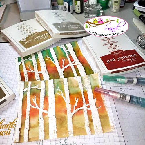 Stampin' Up! Woodlands Embossing Folder - I had some watercolor fun with this Beautiful Embossing folder, and I shared it in a video you can find here: http://stampinwithsandi.com/stampin-up-woodlands-embossing-folder/
