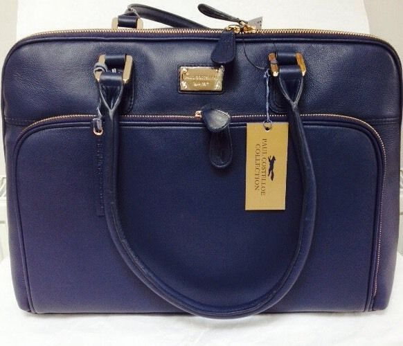 Paul Costelloe Laptop Bag Genuine Leather Blue Offer Ends Today 2 Pm 03 07 15 Authentic Designer Product To Your Door From London Pinterest