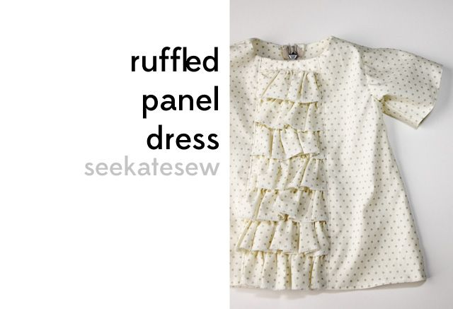 ruffled baby dress tutorial This is a baby dress, but I would like to modify the idea to be a shirt