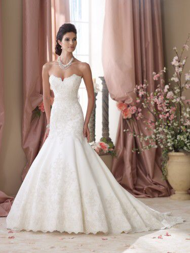 Mermaid bridal gown with lace
