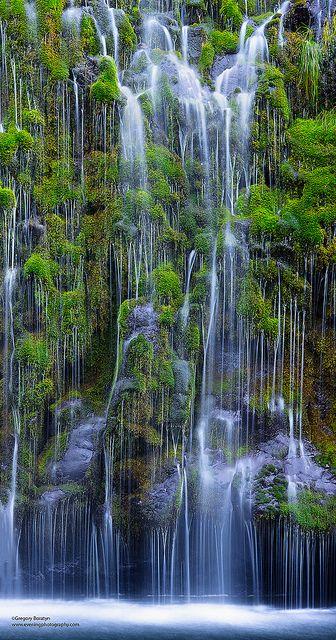 Mossbrae Waterfalls, California http://papasteves.com