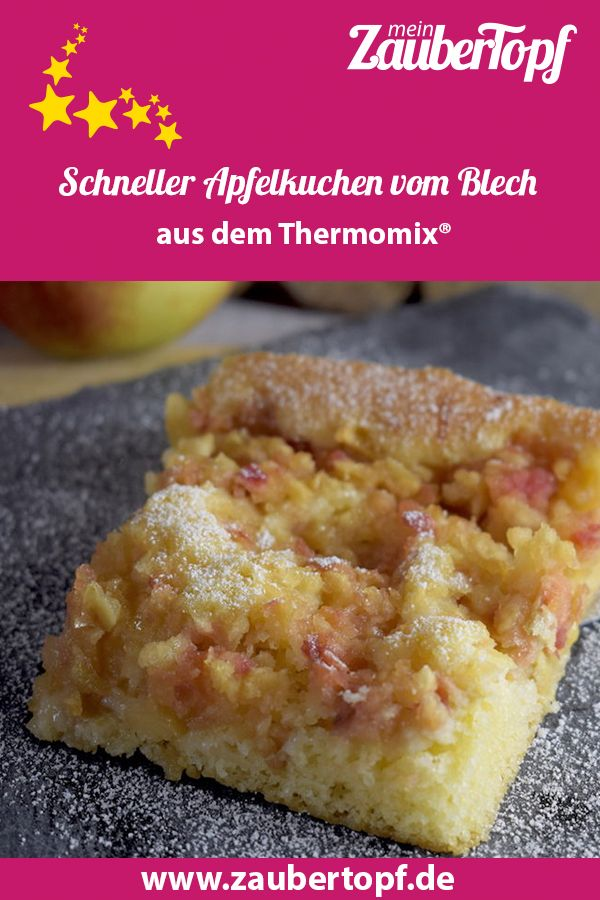 Tarta de manzana rápida de la hoja Thermomix®   – Thermomix