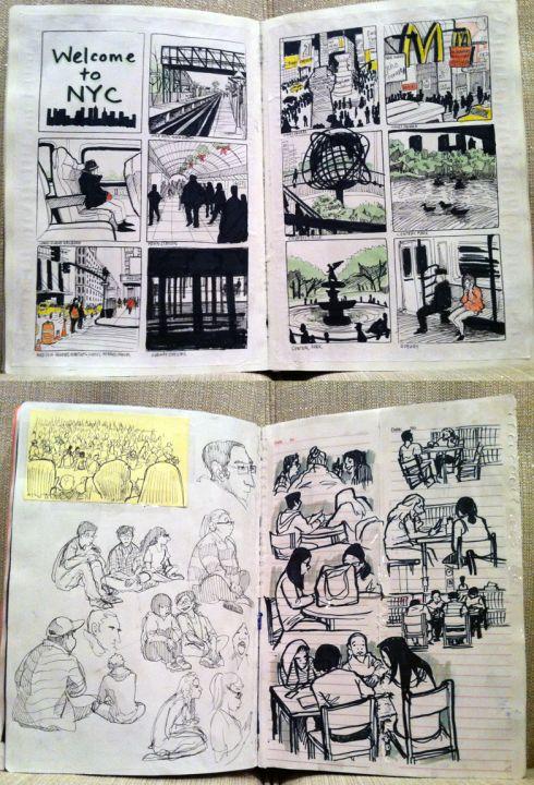 Michelle Lam CalArts Sketchbook 2013 Animation