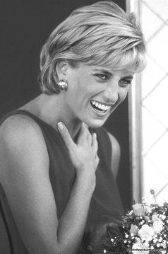 July 21, 1997: Diana, Princess of Wales during a visit to the Northwick Park Hospital in Harrow, London