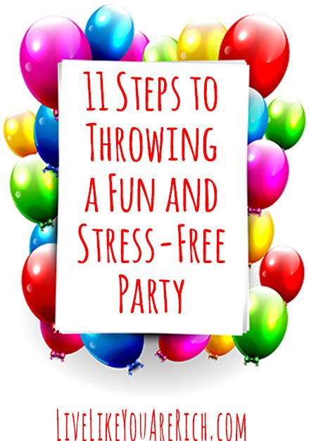 Throw an awesome stress-free party using these tips. The tip about balloons is especially helpful!