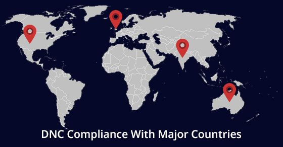 Contaque Solutions are in compliance with major countries laws.