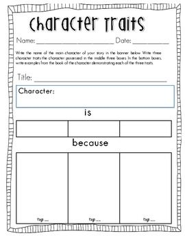 Character Trait Analysis for Guided Reading