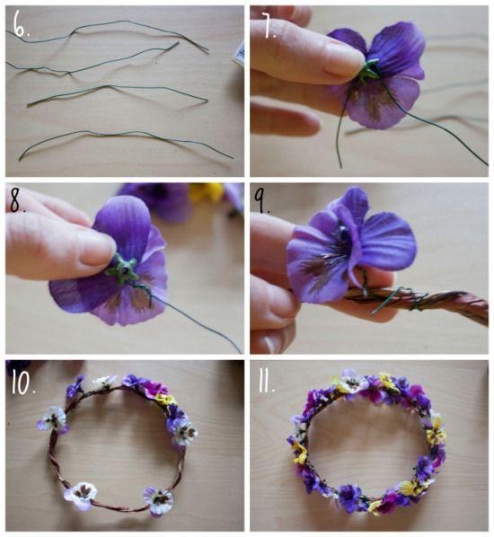 16 best diademas coronas de flores images on pinterest - Como hacer diademas ...